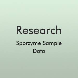 Research - Sporzyme Sample Data